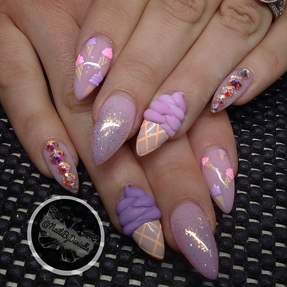 Ice Cream Nail Art Ideas for Summer 2016 6