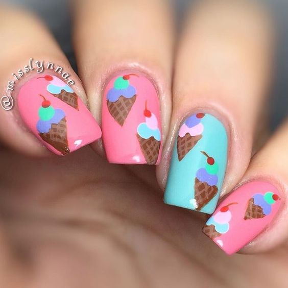 Ice Cream Nail Art Ideas for Summer 2016 7
