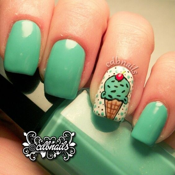 Ice Cream Nail Art Ideas for Summer 2016 8