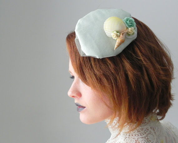 Seashell Fascinators for Brides and Bridesmaids 2016 1