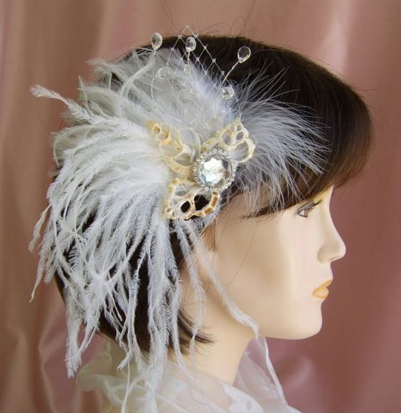 Seashell Fascinators for Brides and Bridesmaids 2016 10