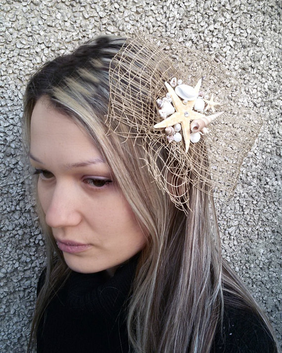 Seashell Fascinators for Brides and Bridesmaids 2016 2