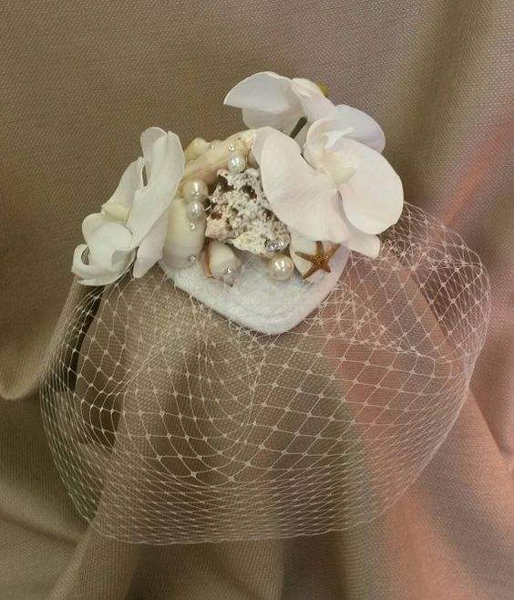 Seashell Fascinators for Brides and Bridesmaids 2016 7