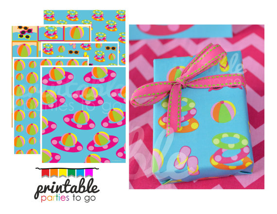 15+ Summer Themed Wrapping Papers 4