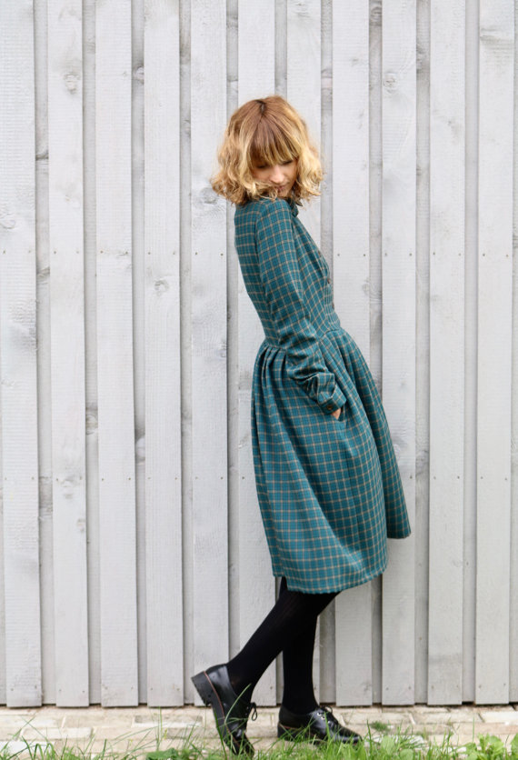 lovely-plaid-dresses-for-fall-2016-4