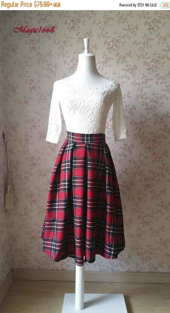 lovely-plaid-skirts-for-fall-2016-1