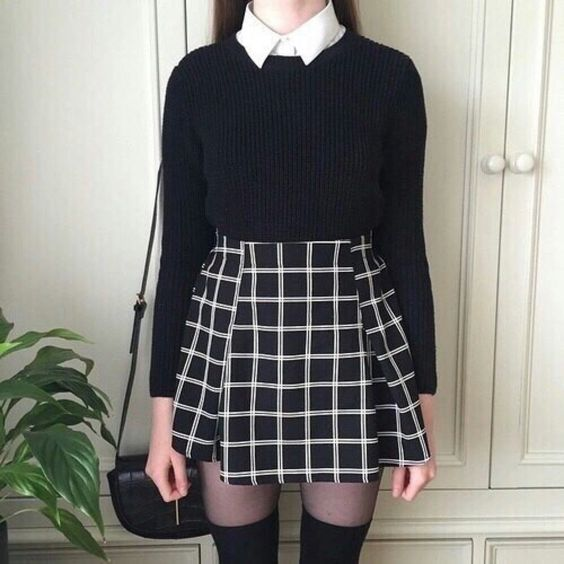 lovely-plaid-skirts-for-fall-2016-14