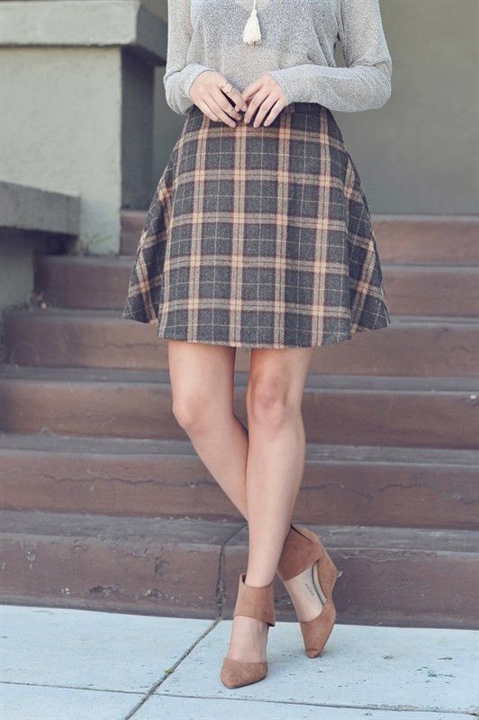 Lovely Plaid Skirts For Fall 2016 Girlshue
