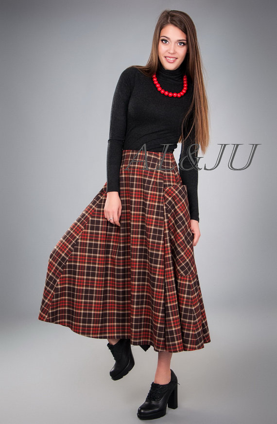lovely-plaid-skirts-for-fall-2016-6