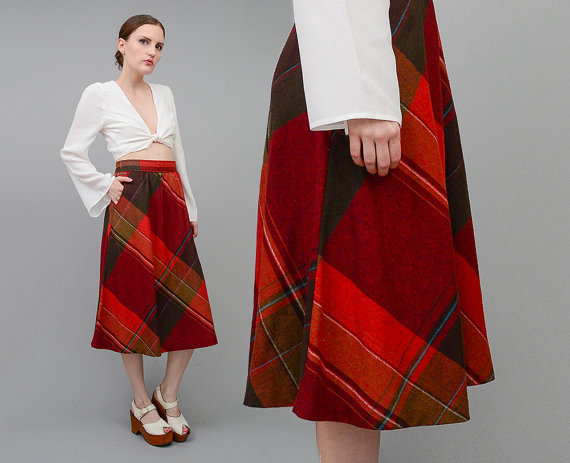 lovely-plaid-skirts-for-fall-2016-8