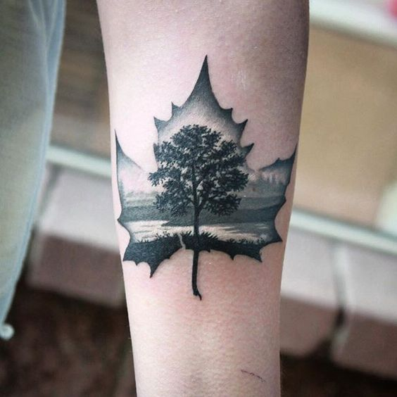 maple-leaf-tattoos-for-autumn-2016-12