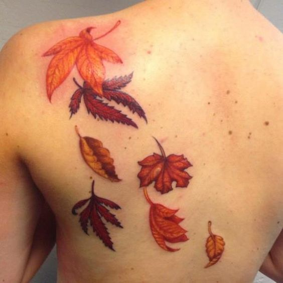 Maple Leaf Tattoos for Autumn 2016 | Girlshue