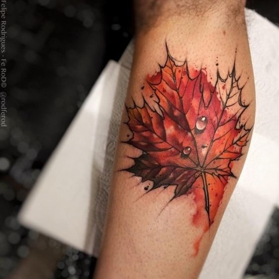 maple-leaf-tattoos-for-autumn-2016-4