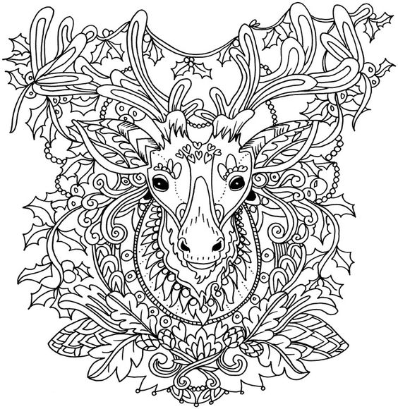 Christmas Tattoos Coloring Pages